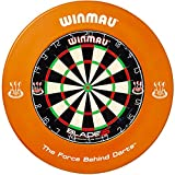 Winmau Dartboard Blade 5 Tunierdartscheibe mit Winmau Surround (Orange)
